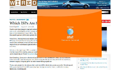 screenshot of wired ad